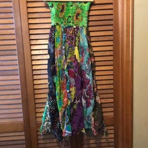 Handmade Colorful Festival Hippie Sun Dress